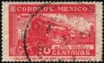 Sellos del Mundo : America : México : Ferrocarril postal. Sobre cuota para bultos postales.