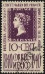 Sellos del Mundo : America : México : Reproducción de 'PENNY BLACK' Centenario del primer timbre postal en el mundo. 1840-1940.