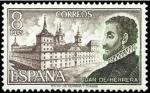 Sellos de Europa - España -  ESPAÑA 1973 2117 Sello Nuevo Personajes Españoles Juan de Herrera y Monasterio S Lorenzo El Escorial