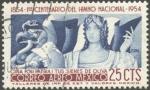 Sellos del Mundo : America : México : 100 años del Himno Nacional. 1854-1954. Ciña ¡oh Patria! tus sienes de Oliva!!
