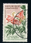 Sellos del Mundo : Africa : Gabón : Tulipán