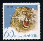 Sellos del Mundo : Asia : Corea_del_norte : Leopardo