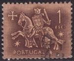 Sellos del Mundo : Europa : Portugal : Ilustracion Medieval