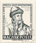 Sellos del Mundo : Europa : Hungría : JOHANNES GUTENBERG 1383-1468