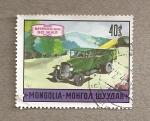 Sellos de Asia - Mongolia -  50 Aniv. del transporte moderno