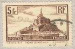Sellos del Mundo : Europa : Francia : Mont St. Michel 5 fr 1929