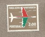 Sellos de Europa - Portugal -  50 Aniv Fuerza Aérea Portuguesa