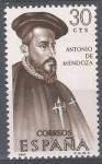 Sellos de Europa - España -  Forjadores de America. Antonio de Mendoza
