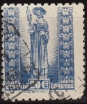 Sellos del Mundo : Europa : España : ESPAÑA 1943-4 961 Sello Año Santo Compostelano El Apostol Santiago 20c usado