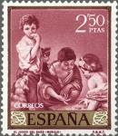 Sellos de Europa - España -  ESPAÑA 1960 1277 Sello Nuevo Bartolomé Esteban Murillo El Juego del Dado 2,50pts