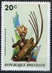 Sellos del Mundo : Africa : Rwanda : Instrumentos Musicales Africanos
