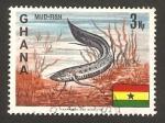 Sellos del Mundo : Africa : Ghana : Pez lodo
