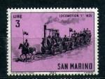 Sellos del Mundo : Europa : San_Marino : serie- Locomotoras de época- 1825