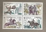 Sellos del Mundo : Europa : Ucrania : Guerreros Medievales