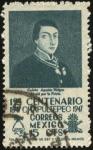 Sellos del Mundo : America : México : Primer centenario de CHAPULTEPEC 1847 - 1947. Cadete AGUSTÍN MELGAR, murió por la Patria.