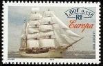 Sellos del Mundo : Europa : Francia : Barcos - Buque escuela Europa  - Holanda
