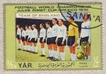 Sellos del Mundo : Asia : Yemen :  Mundial de Futbol de Mexico 1970