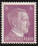 Sellos del Mundo : Europa : Alemania : DEUTSCHES REICH 1941 Scott510 Sello Nuevo Adolf Hitler Alemania Michel-785 Sin goma