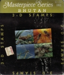Sellos del Mundo : Asia : Bhután :  Bhutan Sellos ** en 3D Lenticular Insectos Masterpiece Series Stamps