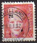 Sellos de Europa - Dinamarca -  DINAMARCA 1999 Scott 1115 Sello Reina Margarita Michel1200 4 Usado Stamp