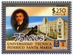 Sellos del Mundo : America : Chile : 75 años universidad tecnica Federico Santa Maria