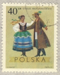 Sellos del Mundo : Europa : Polonia : traje y baile tipico