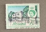 Sellos del Mundo : America : Bermudas : Edificio de correos1848