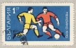 Sellos del Mundo : Europa : Bulgaria : Mundial de futbol Mexico 1970