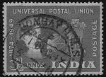 Sellos del Mundo : Asia : India : Comem.75º aniversario de I'UPU