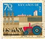 Sellos de Europa - España -  XXV Años de Paz Española