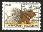 Sellos del Mundo : Asia : Tayikistán : fauna, hystrix leucura satunini