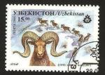 Sellos del Mundo : Asia : Uzbekistán : fauna, ovis ammon karelini