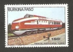 Sellos del Mundo : Africa : Burkina_Faso : tren