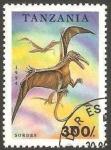 Sellos del Mundo : Africa : Tanzania : dinosaurio sordes
