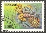 Sellos del Mundo : Africa : Tanzania : pez cebra