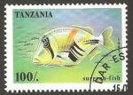 Sellos del Mundo : Africa : Tanzania : pez surgean