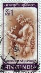 Sellos de Asia - India -  Escultura medieval
