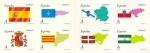 Sellos del Mundo : Europa : España : ESPAÑA 2009 4446/53 Sellos Nuevos Banderas y Mapas Autonomias