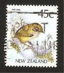 Sellos del Mundo : Oceania : Nueva_Zelanda : pajaro, rock wren