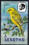 Sellos del Mundo : Africa : Lesotho : Aves. Canario amarillo. Crithagra flaviventris Tsoere.