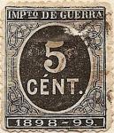 Sellos del Mundo : Europa : España : IMPto DE GUERRA 1898-99