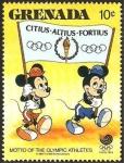 Sellos de America - Granada -  olimpiada seul 88, de walt disney