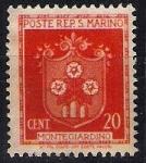 Sellos de Europa - San Marino -  Escudo Montegiardino.
