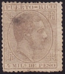 Sellos del Mundo : America : Puerto_Rico : Alfonso XII