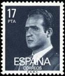 Sellos de Europa - España -  ESPAÑA 1984 2761 Sello Nuevo Serie Basica Rey D. Juan Carlos I 17p Efigie c/señal charnela Yvert2372
