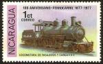 Sellos de America - Nicaragua -  locomotora de pasajeros y carga