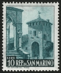 Sellos del Mundo : Oceania : Samoa_Occidental : SAN MARINO:  Centro histórico de San Marino y Monte Titano