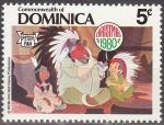 Sellos del Mundo : America : Antigua_y_Barbuda : Dominica 1980 Scott 684 Sello Nuevo Disney Peter Pan, Princesa y Padre Indio