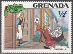 Sellos del Mundo : America : Antigua_y_Barbuda : Grenada 1981 Scott 1063 Sello Nuevo Disney Cenicienta y Cartero Navidad