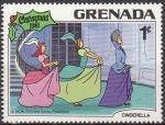 Sellos del Mundo : America : Antigua_y_Barbuda : Grenada 1981 Scott 1064 Sello Nuevo Disney Cenicienta Madrastra y Hermanastras Navidad
